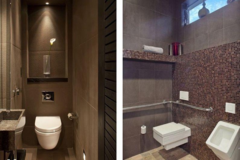 Petite Toilette Marron - Design Intérieur