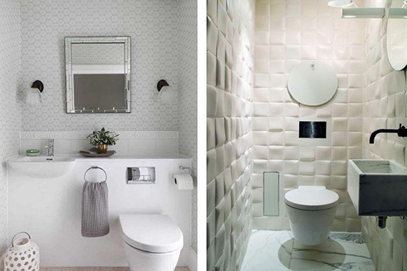 Petite toilette blanche - Design intérieur