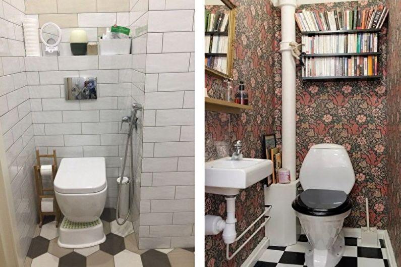 Conception de petite toilette - Finition du sol