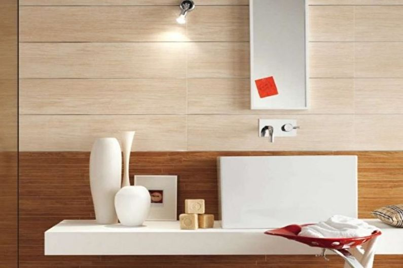 Petite toilette design - décoration murale