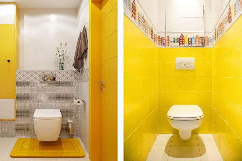 Petite toilette jaune - Design d'intérieur