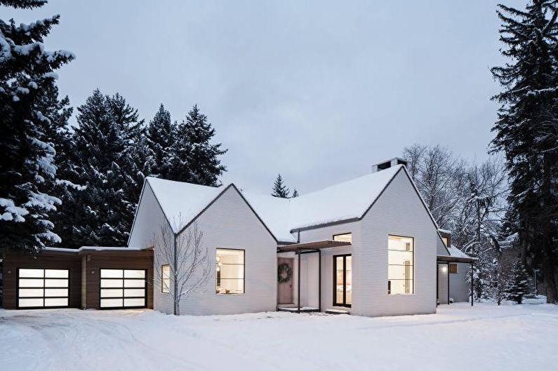 Façade d'une maison de campagne scandinave - photo