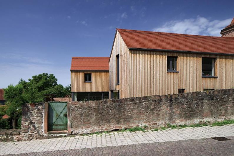 Maison de campagne en bois de style scandinave - photo