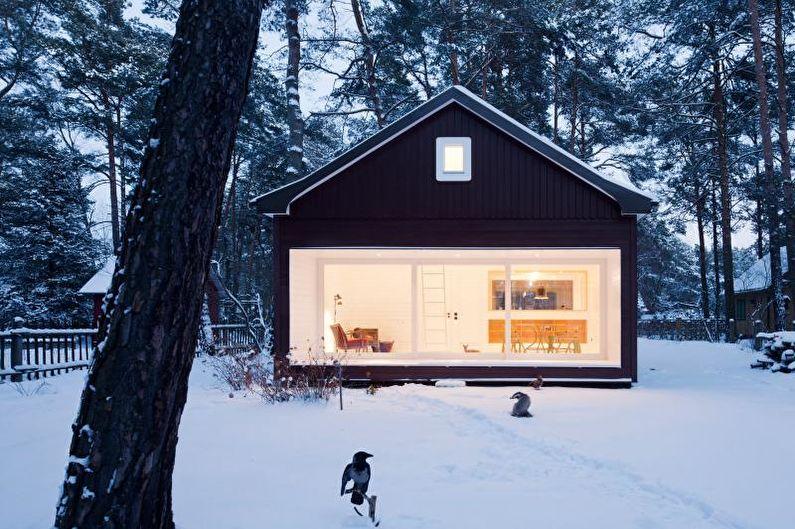 Maison de campagne scandinave noire - photo
