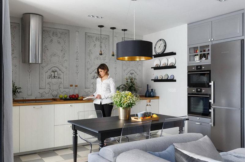 belle cuisine-séjour