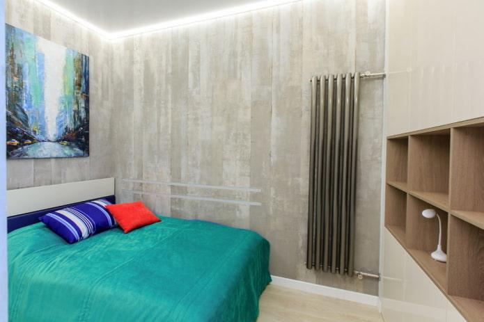 palette de couleurs de chambre de style industriel
