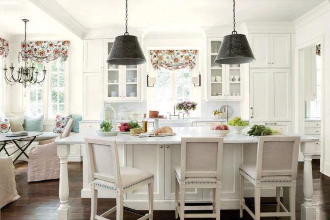 Une telle cuisine est toujours légère et confortable.