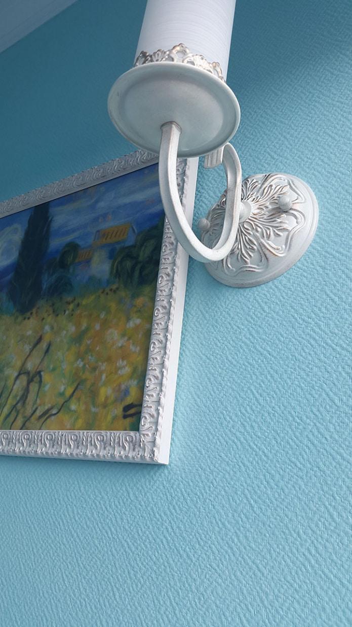 papier peint en fibre de verre bleu