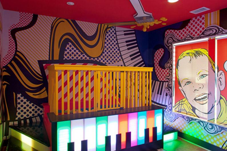 Papier peint pop art pour chambre d'enfants