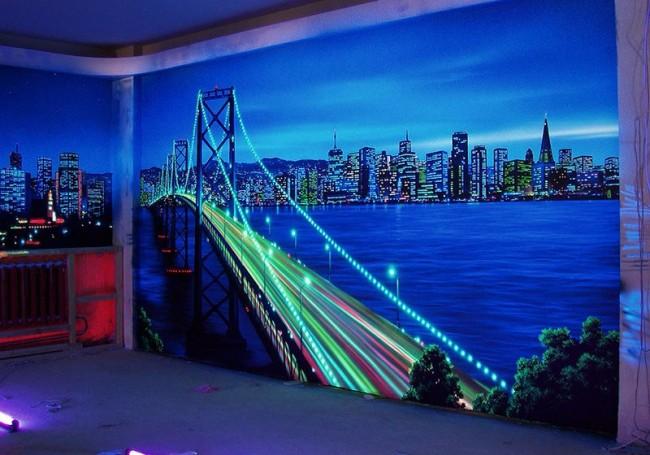 La ville nocturne éclairée par LED a fière allure