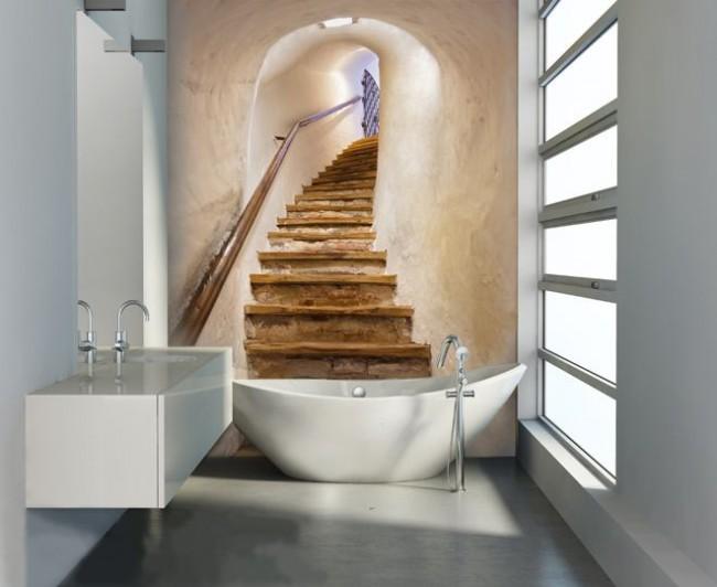 Peintures murales à l'intérieur de la salle de bain