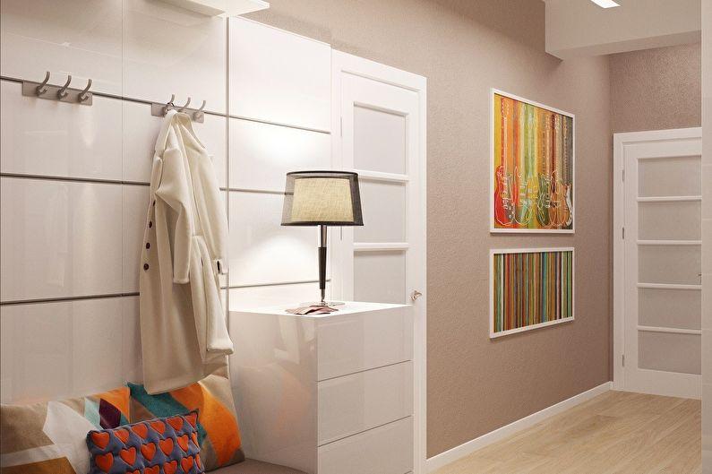 Papier peint pour le couloir dans un style moderne
