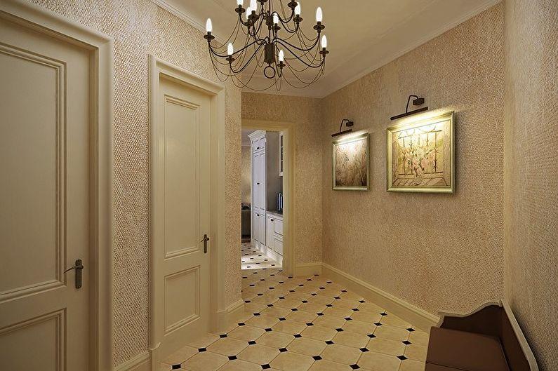 Papier peint textile pour le couloir
