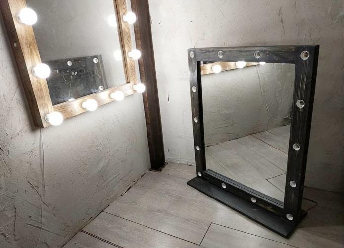 miroir wengé