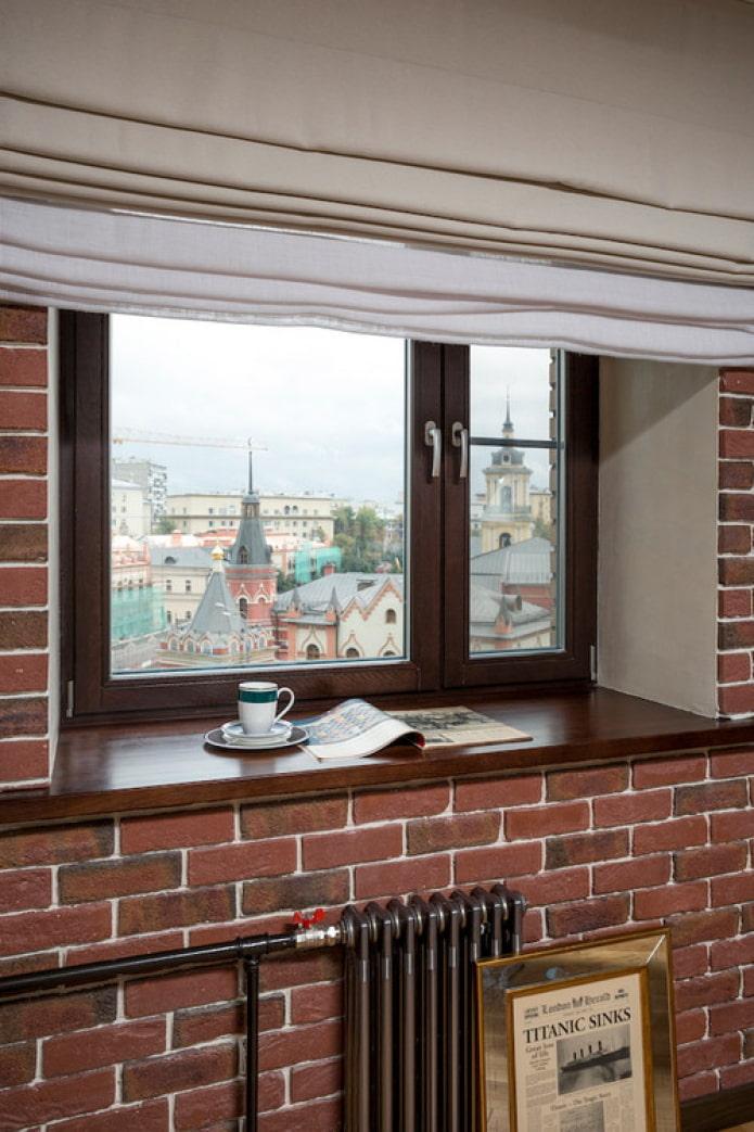 fenêtre marron