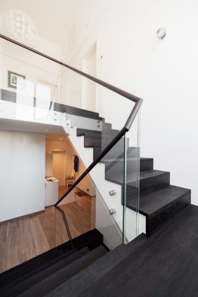 escalier moderne dans la maison