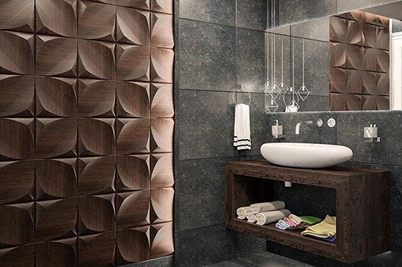 Types de panneaux en plastique pour la salle de bain - Panneaux 3D en plastique pour la salle de bain