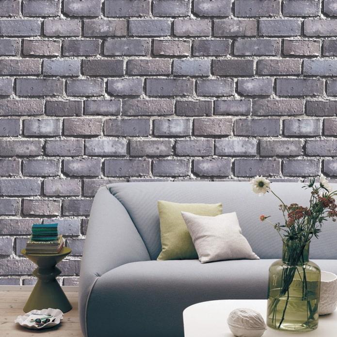 Papier peint 3d pour la brique dans le salon