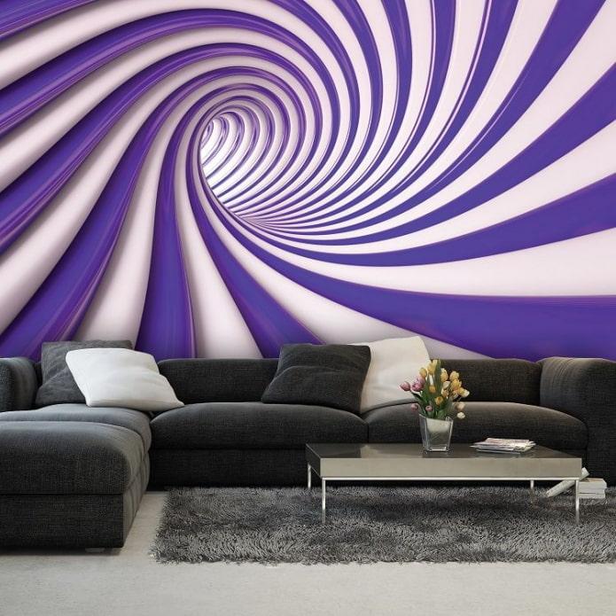 fond d'écran 3d abstrait dans le salon