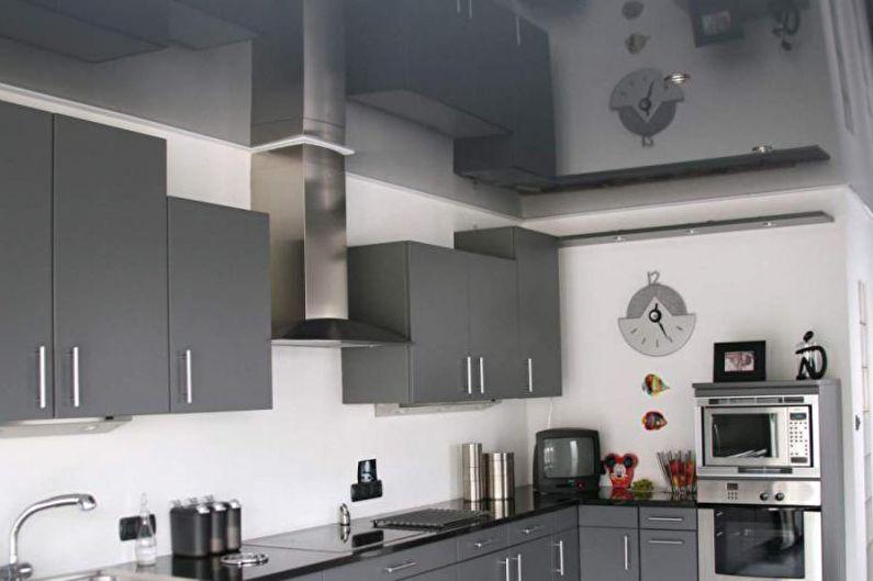 Conception de cuisine grise - Fini de plafond