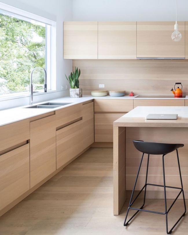 Une nuance rose délicate rendra la cuisine plus confortable