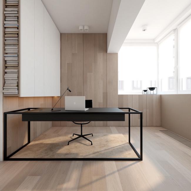 Excellente combinaison avec du noir dans un intérieur de style moderne