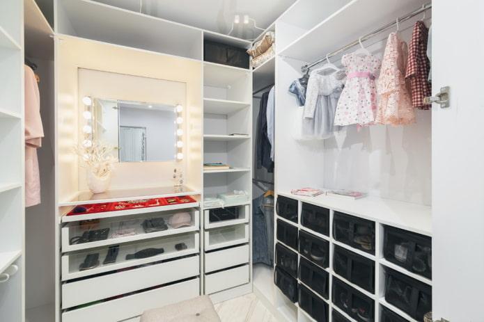 aménagement intérieur de l'armoire