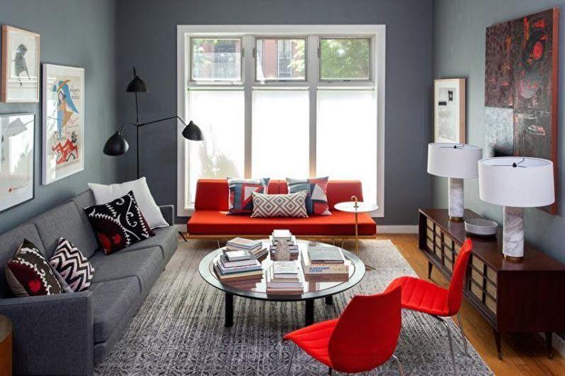 Papier peint gris à l'intérieur - Combinaison avec d'autres couleurs