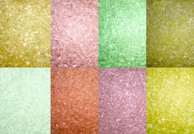Collection de couleurs de papier peint liquide en soie