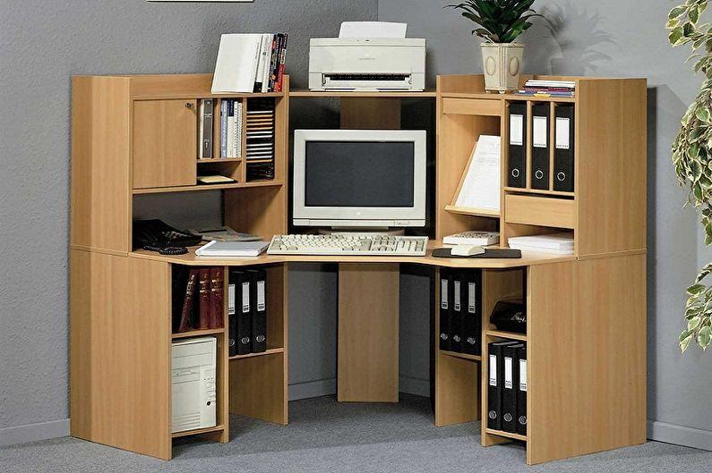 Table d'ordinateur d'angle en MDF