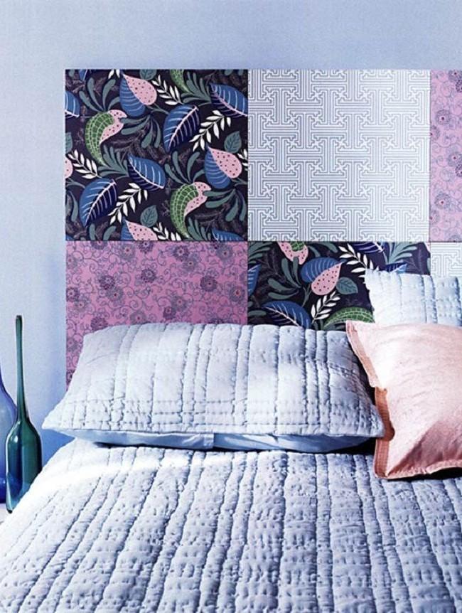 La tête de lit patchwork est un ajout brillant au lit