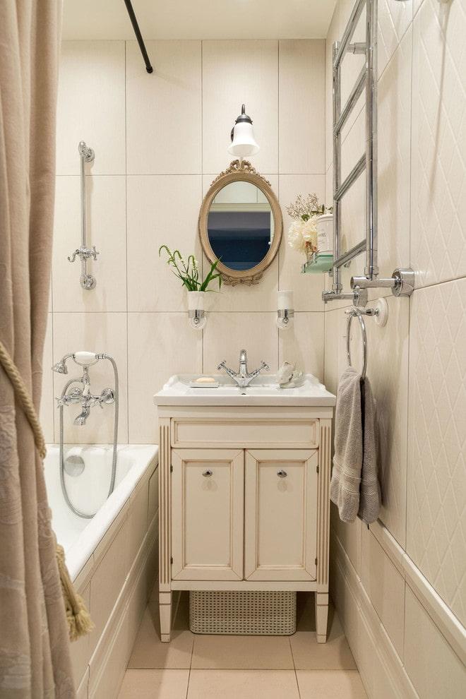 salle de bain aux couleurs beiges