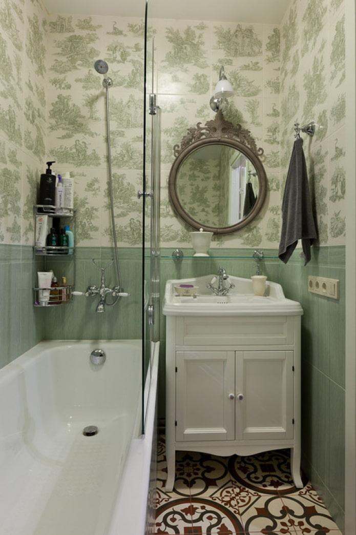 salle de bain 3 m2 dans le style provençal