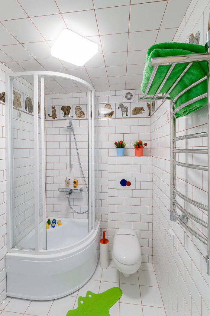 salle de bain en blanc