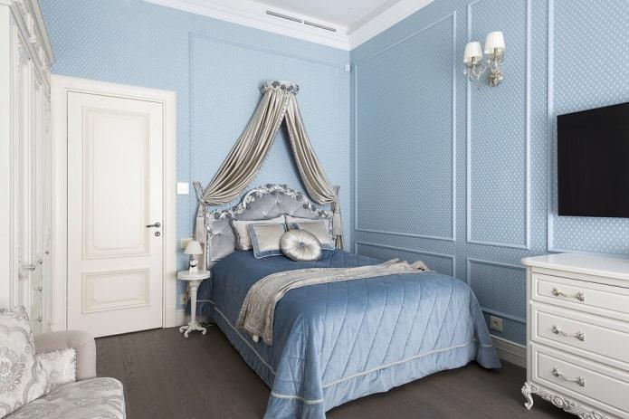 couleurs de la chambre dans un style classique
