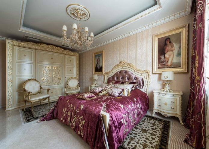 meubles et accessoires dans la chambre dans un style classique