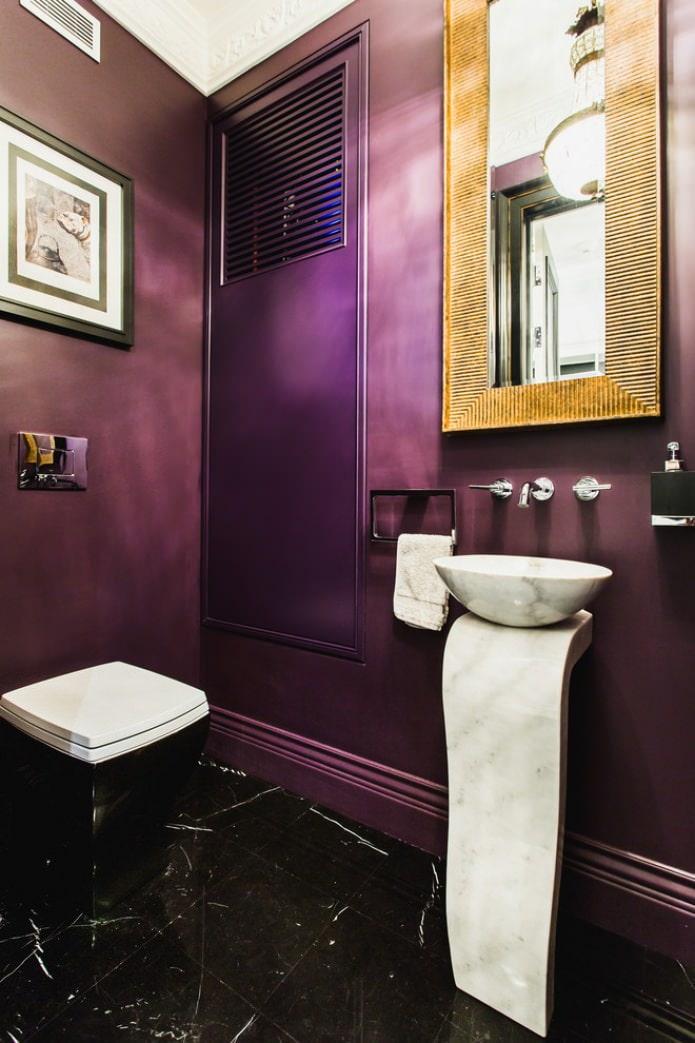 peinture de salle de bain violette