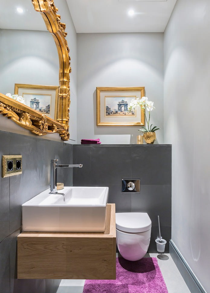 peinture grise de la salle de bain