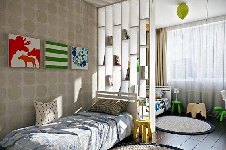 Conception de la chambre des enfants pour deux garçons - Ce que vous devez considérer