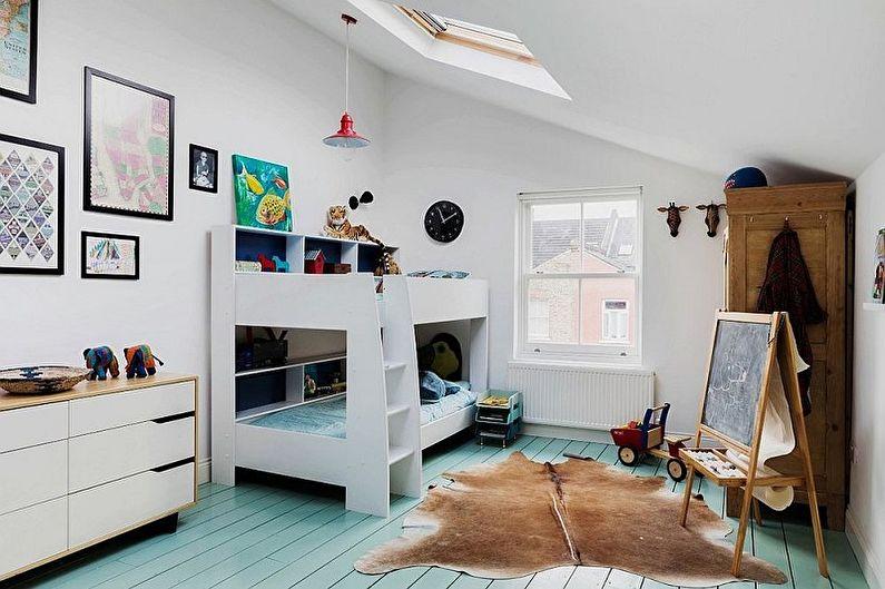 Crèche de style scandinave pour deux garçons - Design d'intérieur