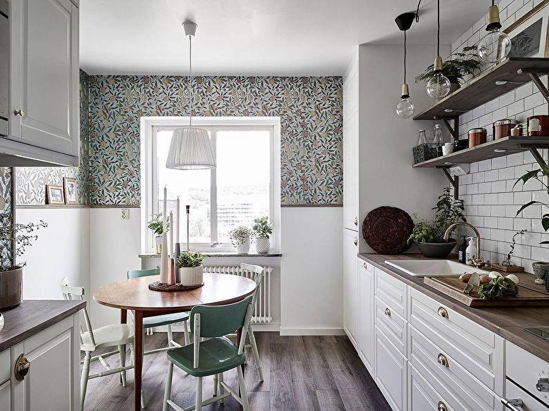 Comment choisir le papier peint pour la cuisine: 70 photos et idées