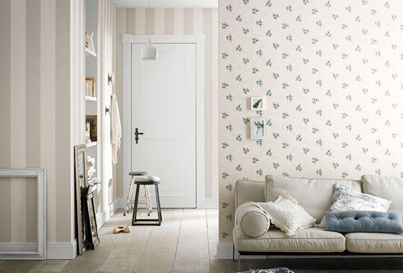 Comment choisir le papier peint pour le couloir (+60 photos)