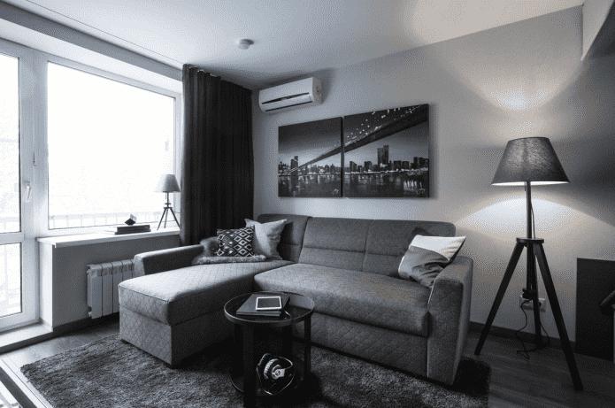 conception de la salle de l'appartement Khrouchtchev