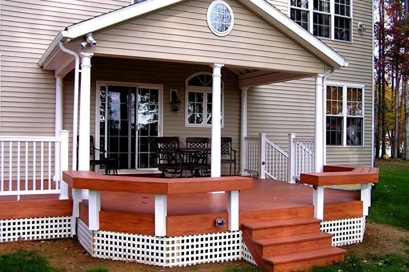 Comment décorer le porche d'une maison privée: 80 idées