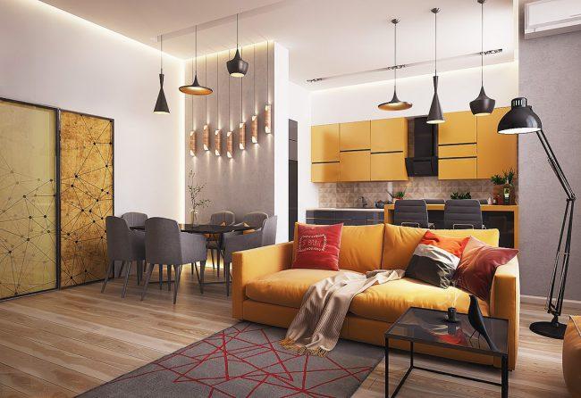 Un plan ouvert est un moyen de rendre tout l'intérieur d'un appartement plus léger et plus aéré