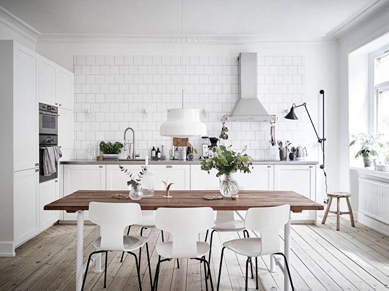 Conception de cuisine de style scandinave (80 photos)
