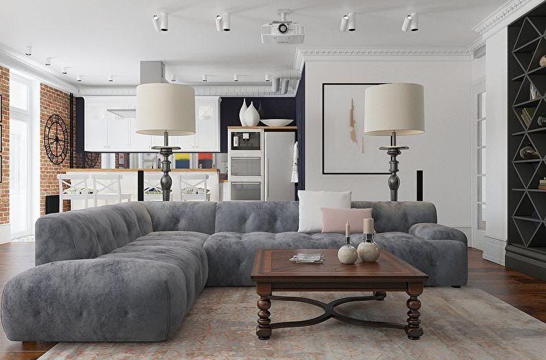 Conception d'un appartement d'une pièce (105 photos)