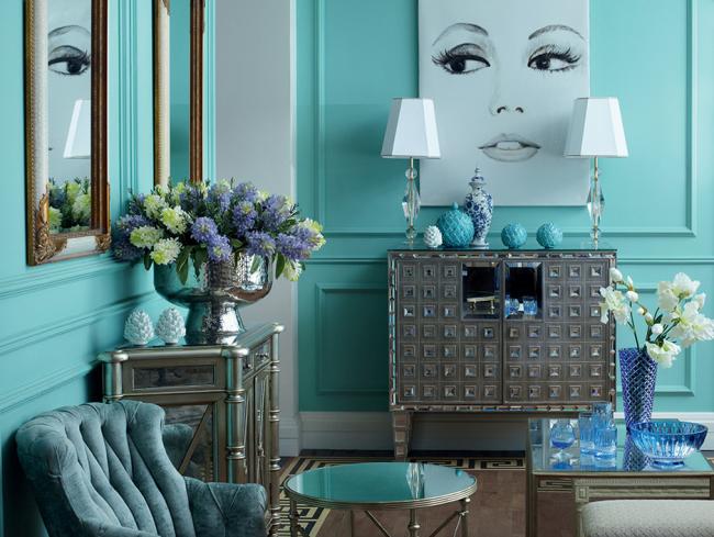 Décoration de salon dans des couleurs élégantes