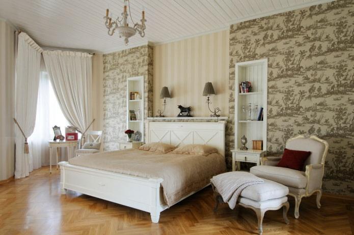 chambre lumineuse de style classique