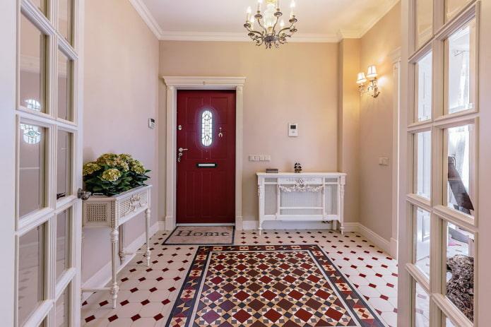 conception de couloir dans un style classique